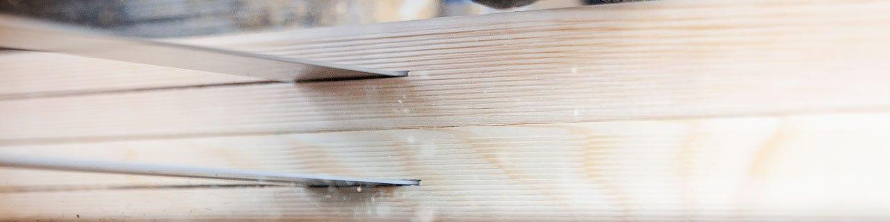 Nachschnitt-Bandsägen