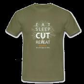 T-Shirt - Eat Sleep Cut Repeat