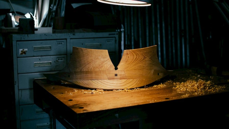 Custom wood chair